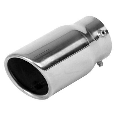 """6.5/""""x3/"""" Oval Out 2.25/"""" In 10/"""" Long 304 Stainless Steel Exhaust Tip Angle Cut"""