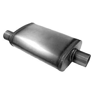 Stainless Steel Straight-Thru Muffler 2.5 inches Offset In//Out 203388 Pair