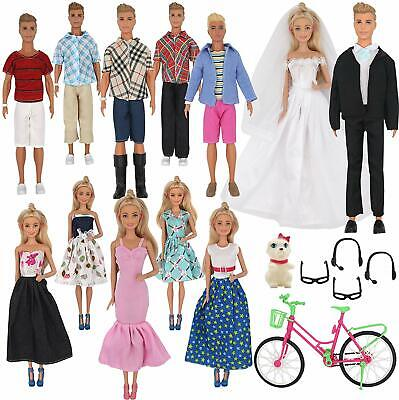 Doll Clothes Accessories Ken Doll Barbie Includes 20 Wear Clothes Shirt Jeans