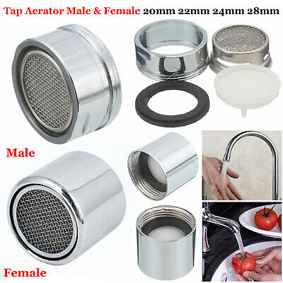 Tap Aerator Water Saving Faucet Male Female Nozzle Spout End Diffuser Filter UK