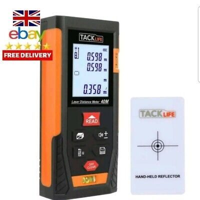 Laser Measure, Tacklife Laser Distance Meter Hd40M, Portable Measure Tool With 2