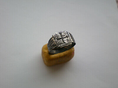Ancient ROMAN-BYZANTINE LEGIONARY SILVER RING