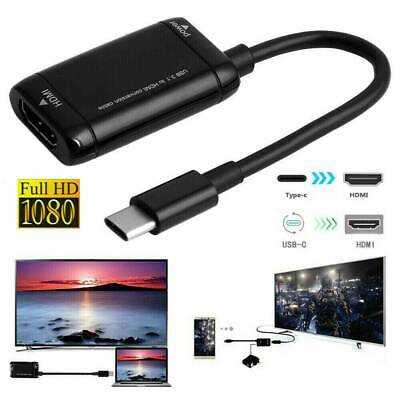 USB-C Type C Male to MHL HDMI Female Black Adapter USB 3.1 Cable 1080P Adapter