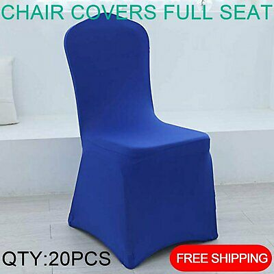 20x Royal Blue Chair Covers Full Seat Cover Spandex Stretch Banquet Wedding Part