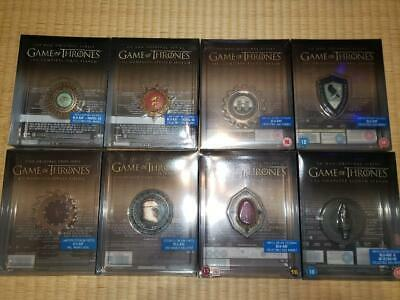 Game of Thrones Magnetic Sigil Complete Set available from Season 1-8 Steelbooks