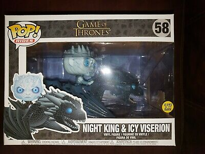 Funko Pop! Rides Glow In The Dark Game of Thrones Night King & Icy Viserion # 58