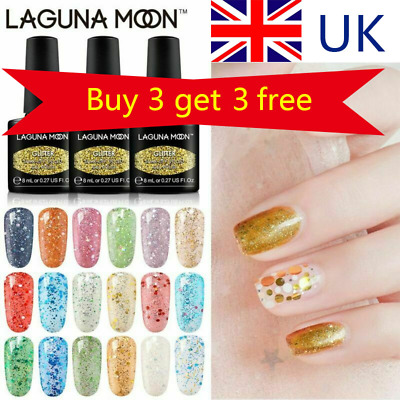 Soak Off Thermal Colour-Changing Gel Nail Polish Top Base Coat UV LED Lagunamoon
