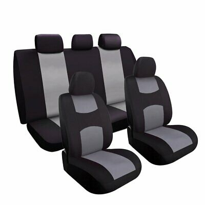 Charcoal Car Seat Covers Set Universal Fit For Sedan SUV Truck Split Bench