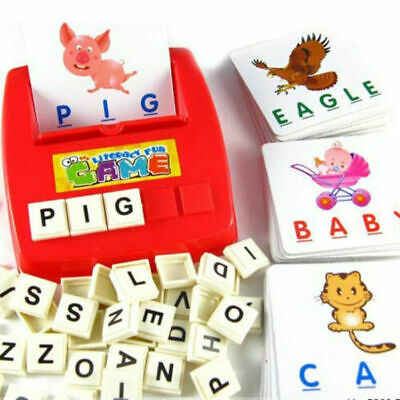 English Spelling Alphabet Educational Toy Letter Game Montessori Early Learning