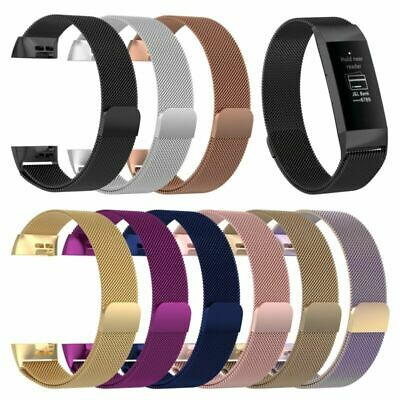 1*Metal Stainless Steel Watch Band Milanese Mesh Wrist Strap For Fitbit Charge 3