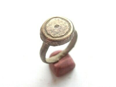 Ancient CELTIC Billon Ring with concentric dots ***EVIL EYE*** Motif - 300 BC