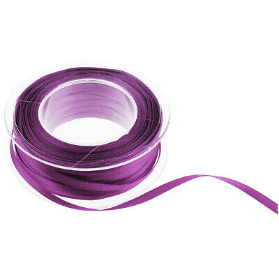 55 Yard Satin Ribbon Full Rolls Double Sided Polyester 3 mm Wide