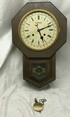 Station Master Wall Regulator Clock 8-Day, Time/Strike and Key-wind