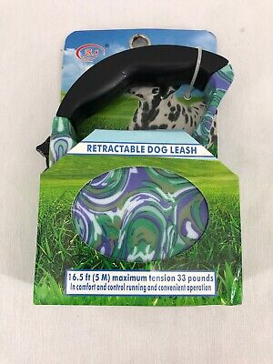 Dog Leash Retractable Walking Collar Automatic Traction Rope Small Med Pet 16FT