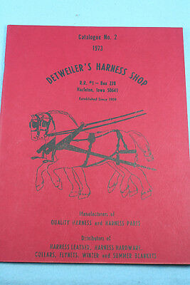 Detweilers The Harness Shop,catalog #2, 1973