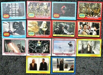 Lot of 14 x Topps Star Wars Heritage Common Trading Cards dated 2004
