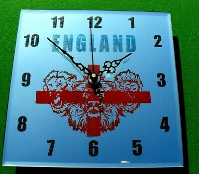England engraved glass mirror wall clock 25 CM great birthday/gift