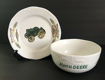 2005 John Deere Licensed Soup Bowl & Saucer/Underplate by Gibson USA