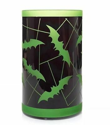 Yankee Candle BATS TREES Halloween Spooky Frosted Jar Shade New
