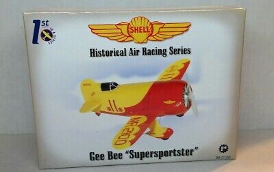SHELL GEE BEE R-1 SUPERSPORTSTER AIRPLANE #1 IN SERIES STOCK FIRST GEAR #99-0120