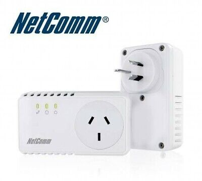2 x NP204 Netcomm Powerline Adapters 200mbps  paired