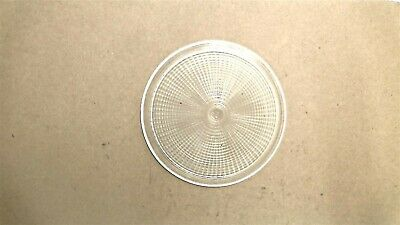 """Vintage 4"""" Round Clear Glass Replacement Lens"""