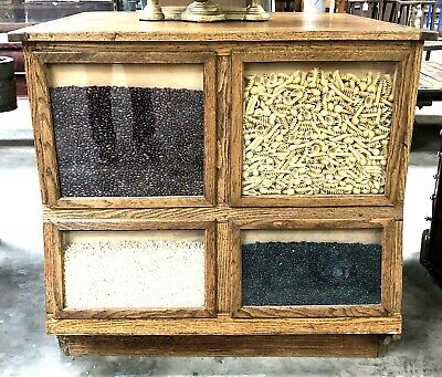 Small Sherer Seed Cabinet with 4 very large drawers, Great Kitchen Island