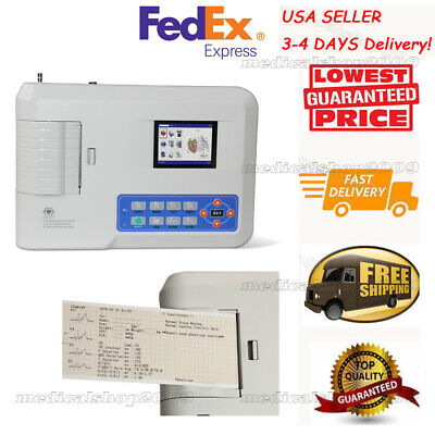 CE FDA  Digital 3 Channel ECG Machine,Electrocardiograph SYNC PC software