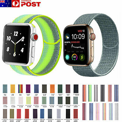 Sport Nylon Woven Loop Strap iWatch Band 38 42 for Apple Watch Series 5 4 3 2 1