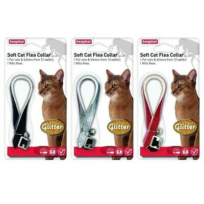 Beaphar Soft Cat Flea Collar - Glitter with Bell 30 cm - 16 wk Kitten Protection