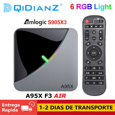 A95X F3 Air 8K Android 9.0 TV BOX Amlogic S905X3 4K wifi RGB Light A95XF3 CAJA
