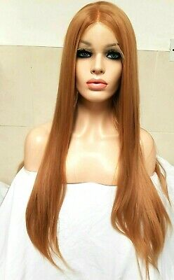 Copper Red Ginger Auburn Human Hair Wig Lace Front Transparent Lace Wig
