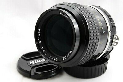 [Mint] Nikon Ai NIKKOR 105mm f/2.5 MF Lens for F mount F/S from Japan 445