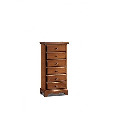 Chest of Drawers 1526 with 6 Drawers Art Povera Dye Walnut
