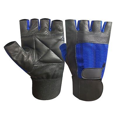 Gym fitness workout body building weight lifting exercise long strap gloves 203