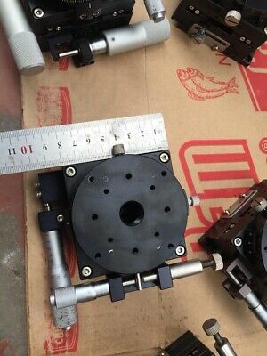 Micro XY Linear Stage x Rotary table 80x80mm-cross-roller bearing