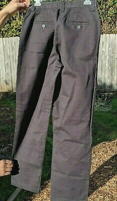 Lee Womens Size 10 M 28x30 Black Khaki Chino Pants Relaxed Fit Straight Leg 10M