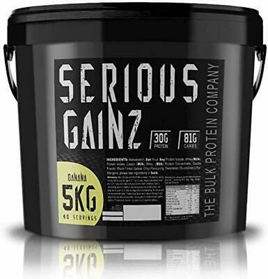 Serious Gainz – Mass Gainer Protein Powder – Banana strawberry Chocolate 5kg