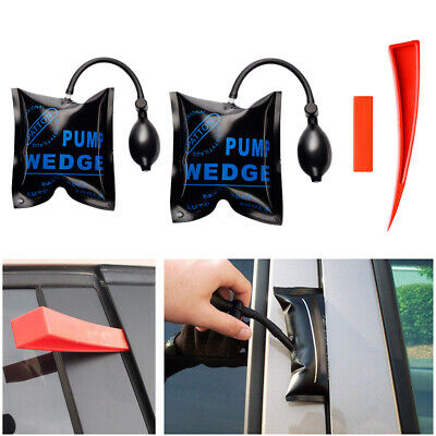 2x Air Wedge Pump Up Inflatable Bag Clamp Shim For Car Door Window Opener Tool