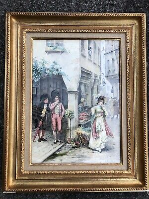 Eugene Grivaz ( 1852-1915) Pintura Antigua Suisse Painting Watercolor