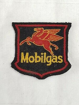 vintage 1960s 50s era Mobilgal Pegasus black Oil Advertisement Uniform Patch