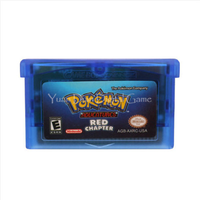 Nintendo GBA Video Game Console Card Cartridge Pokemon Adventures Red Chapter