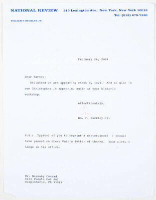 William F. Buckley Jr. - Typed Letter Signed 02/26/2004
