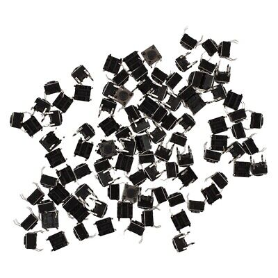 100 Pcs 6x6x4.5mm Panel PCB Momentary Tactile Tact Push Button Switch 4 Pin t1e