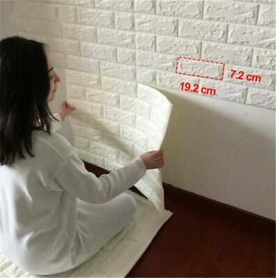 HOT 3D PE Foam Self Adhesive Panels Wall Stickers Home Decor DIY Embossed Brick