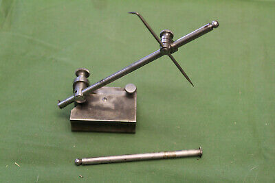 """Antique STARRETT No. 56 Small Surface Gage 4&6"""" Spindle March 17 1897 Patent"""