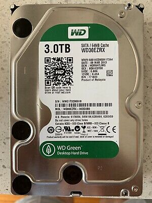 3Tb WD Internal HDD WD30EZRX Western Digital Hard Disk Drive SATAIII