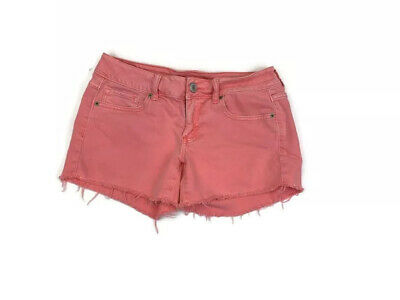 American Eagle Outfitters Girls Denim Shorts Women 6 pink cotton spandex Stretch