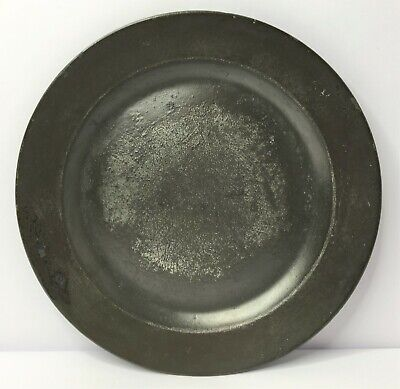 Antique 18th Century Pewter Plate by NCHOLAS JACKMAN With Hallmarks