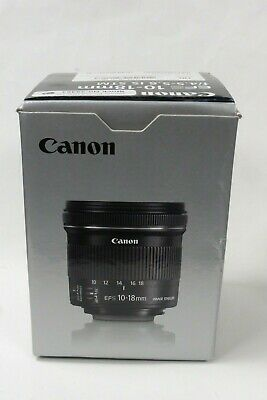 Canon 10-18mm f/4.5-5.6 IS STM EFS Lens Mint Minus Condition, Boxed  & L  Hood.